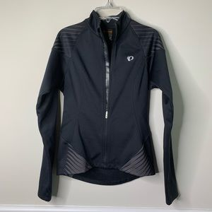 Pearl Izumi black biking zip up shell jacket sz S